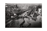 Aerial View of Hamburg Harbour, Germany, from a Zeppelin, C1931 Giclee Print