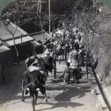 Riding to Daijingu Temple, for Shinto Festival of Worship of the Sun Goddess, Yokohama, Japan, 1904 Photographic Print by  Underwood & Underwood