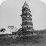 Tiger Hill Pagoda, the 'Leaning Tower, of Soo-Chow' (Suzho), China, 1900 Photographic Print by  Underwood & Underwood