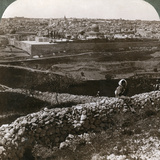 Jerusalem, as Seen from the South-East, Showing the Site of the Temple, Palestine, 1900s Photographic Print by  Underwood & Underwood