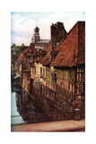 Timber Houses by the Pont De Caen in Caudebec-En-Caux, Normandy, France, C1930s Giclee Print