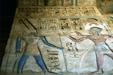 Painted Relief, Temple of Rameses III, Medinet Habu, Egypt, 12th Century Bc Photographic Print