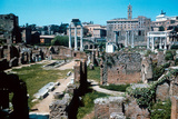Ruins of the Forum, Rome with the House of the Vestals on the Left Photographic Print