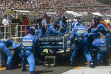 Pit Stop for Michael Schumacher's Benetton-Ford, 1994 Photographic Print