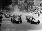 The Start of the Monaco Grand Prix, Monte Carlo, 1961 Papier Photo