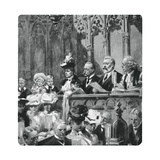 Prince Albert at the Abbey Thanksgiving Service for His Parents' Safe Return from India, 1906 Giclee Print