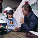 Jackie Stewart and Graham Hill Chatting, Monaco Grand Prix, Monte Carlo, 1966 Photographic Print