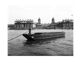 Wooden Lighter and Topsail Barges on the Thames at Greenwich, London, C1905 Photographic Print
