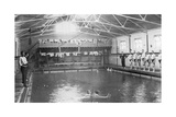 The Swimming Bath, Royal Navy Training Establishment, Shotley, Suffolk, 1936 Giclee Print