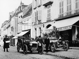 1909 Daimler and 1908 Rolls-Royce Silver Rogue, France, October 1908 Photographic Print