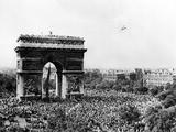 Celebrating the Liberation of Paris, 26 August 1944 Photographic Print