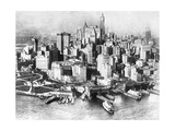 Aerial View of Lower New York, USA, 1926 Giclee Print