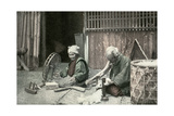 Spinning Cotton, Japan, 1904 Giclee Print