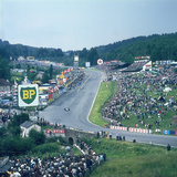 Part of Spa-Francorchamps Race Track, Belgian Grand Prix, Belgium, 1963 Fotodruck