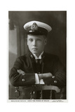 The Prince of Wales in Naval Uniform, C1910 Giclee Print by W&d Downey