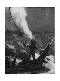 The First Photograph of a Diver under Water, Late 19th Century Giclee Print