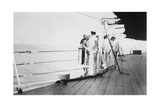 American Actor and Film Director Douglas Fairbanks, Sr on Board HMS Malaya, Venice, Italy 1938 Giclee Print