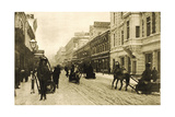 Petrovka Street in Winter, Moscow, Russia, 1912 Giclee Print