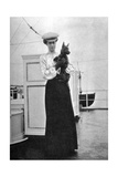 Princess Victoria (1868-193) with Mac on Board the Royal Yacht Victoria and Albert III, 1908 Giclee Print