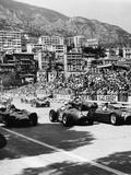 Cars on the Starting Grid, Monaco, 1950S Fotografisk tryk