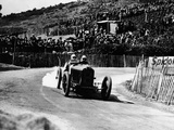 Kenelm Lee Guinness in a 6 Cylinder Sunbeam, French Grand Prix, Lyons, 1924 Fotografisk tryk