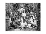 Coolies at Worship, Jamaica, C1905 Giclee Print by Adolphe & Son Duperly
