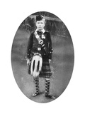 Prince Albert Wearing Highland Dress, Sandringham, Norfolk, 1909 Giclee Print