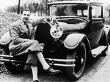 Jean Bugatti Pictured with a Bugatti Car, 1930S Photographic Print