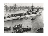 Ship and Boats on the River Thames, London, C1913 Photographic Print