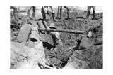 A Collapsed British Dugout, Mesopotamia, WWI, 1918 Giclee Print
