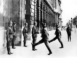 German Soldiers on Guard Duty Outside the Hotel Crillon, Paris, 7 October 1940 Photographic Print