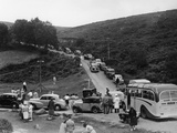 Crowded Road at Dartmeet, Devon, C1951 Photographic Print