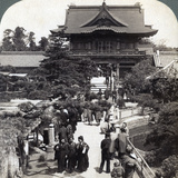 Main Gateway to Kameido Temple, Tokyo, Japan, 1904 Photographic Print by  Underwood & Underwood
