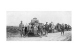 A Group of Light Tanks, Soissons, France, 1918 Giclee Print