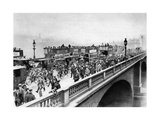 Morning 'Rush Hour, London Bridge, London, 1926-1927 Giclee Print by  McLeish and Paterson