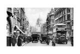 Fleet Street as Seen from Opposite Salisbury Court, London, 1926-1927 Giclee Print