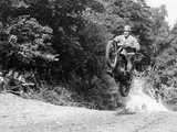 Bsa Motorbike Competing in the Motocross Des Nations, 1952 Papier Photo