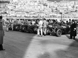 A Line of Alfa Romeos at the Monaco Grand Prix, 1934 Photographic Print