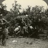 Gunners Wearing Gas Masks, World War I, 1914-1918 Photographic Print