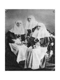 Tsarina Alexandra and Grand Duchesses Olga and Tatiana of Russia, 1914 Giclee Print