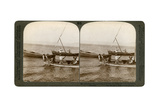 Fishermen on the Sea of Galilee, Palestine, 1900 Giclee Print by  Underwood & Underwood
