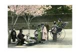 A Street Merchant, Japan, 1904 Giclee Print