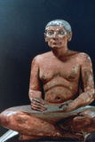 Ancient Egyptian Figure of a Seated Scribe, 25th-24th Century BC Photographic Print
