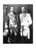 Tsar Nicholas II of Russia and George V of the United Kingdom, 1913 Giclee Print