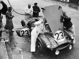 Pit Stop, Le Mans 24 Hours, France, 1955 Fotografisk tryk