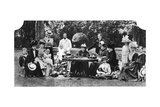 A Royal Family Party at Osborne House, Isle of Wight, C1890-1900 Giclee Print