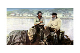 Fishermen, Fishing Town of Molle, on the Headlands of Kullen in the Kattegat, Sweden, C1923 Giclee Print