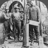 Filling a Shell with Nitro-Glycerine, Oil Field in Pennsylvania, USA, Early 20th Century Photographic Print