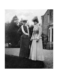 Mary of Teck (1867-195), Princess of Wales, with the Duchesse D'Aosta, 1908 Giclee Print