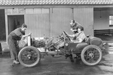 Amherst Villiers and a Mechanic Taking the Revs of a Bugatti Cordon Rouge, C1920S Photographic Print